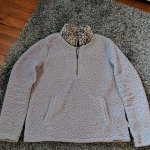 Abercrombie & Fitch Sherpa 3/4 zip